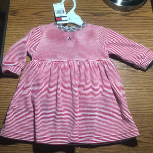 Tommy Hilfiger red & white dress 3-6 months NWT